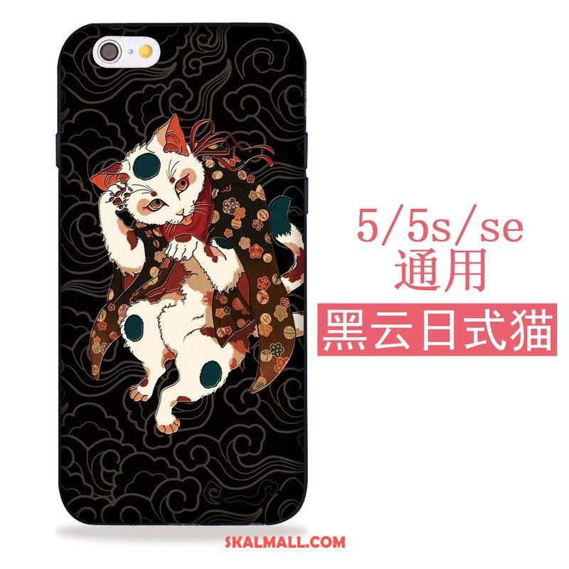 iPhone 5   5s Skal Mjuk Mobil Telefon Katt Japansk Svart Köpa 16cb21ef8c86f