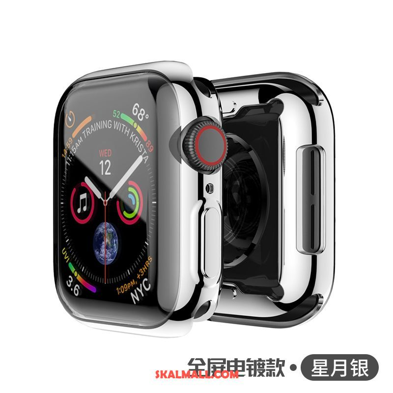 Apple Watch Series 1 Skal Metall Transparent Skydd Plating Silver Rea