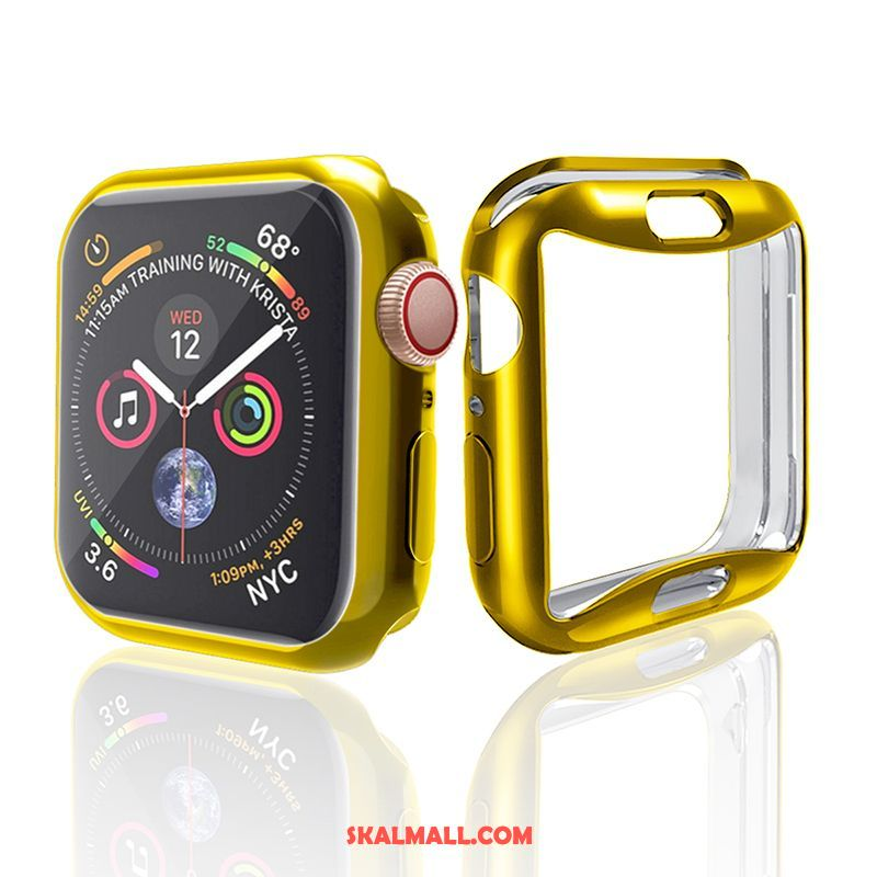 Apple Watch Series 4 Skal Guld Fallskydd All Inclusive Silikon Plating Billigt
