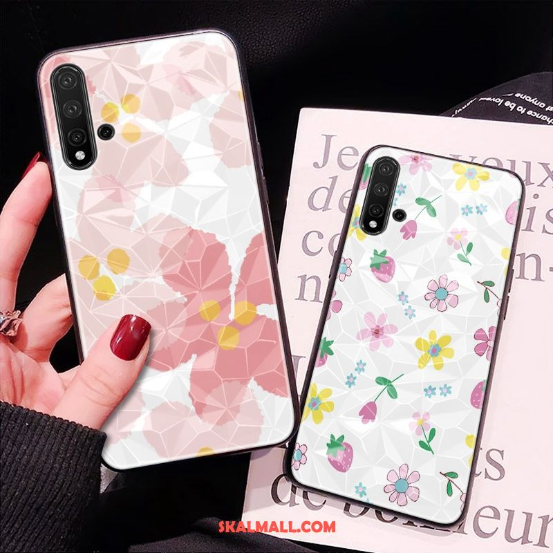 Huawei Nova 5t Skal Diamantform Rosa Mönster Mobil Telefon All Inclusive Billigt