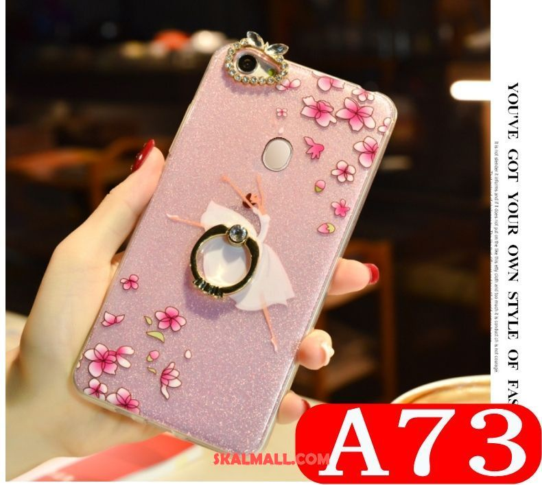 Oppo A73 Skal Rosa Strass All Inclusive Trend Vacker Billigt