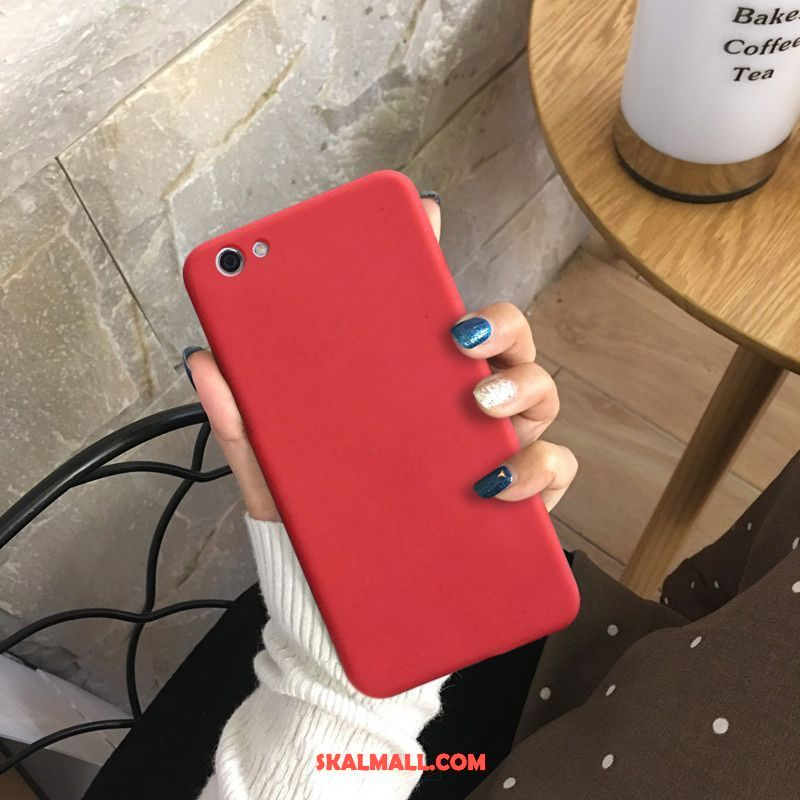 Oppo F7 Youth Skal Trend Nubuck Röd All Inclusive Ny Billigt
