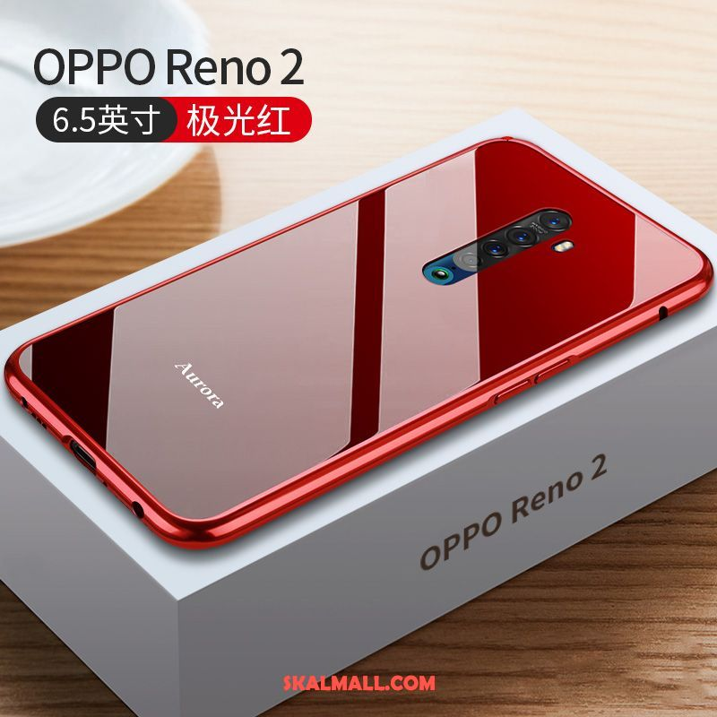 Oppo Reno 2 Skal Ny Slim Metall Glas All Inclusive Fodral Online