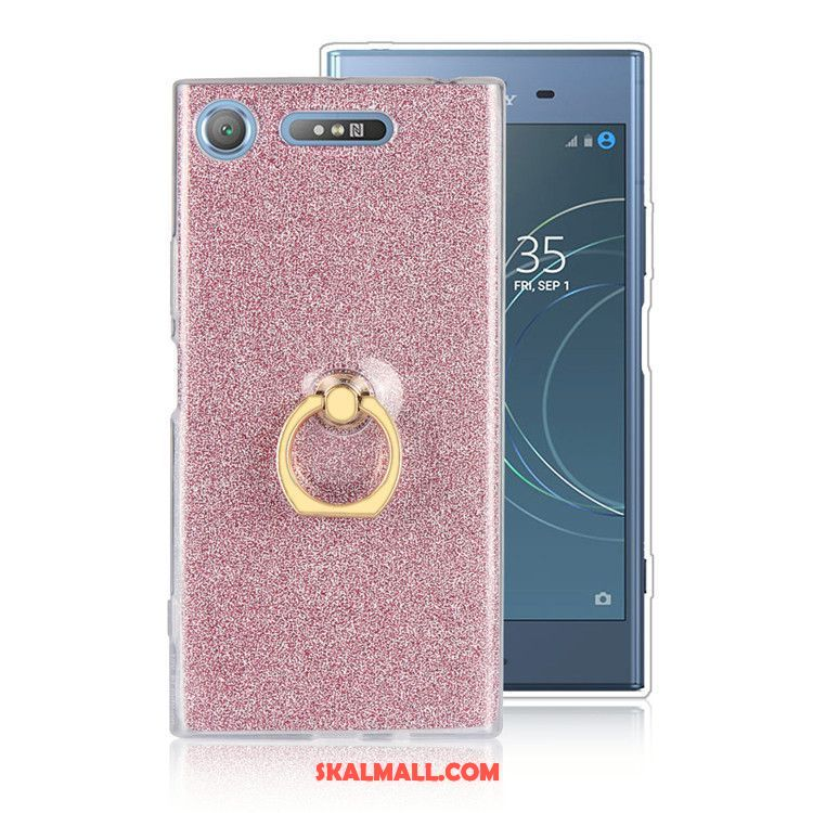 Sony Xperia Xz1 Skal Fallskydd Pulver Mobil Telefon Ring Support Rea