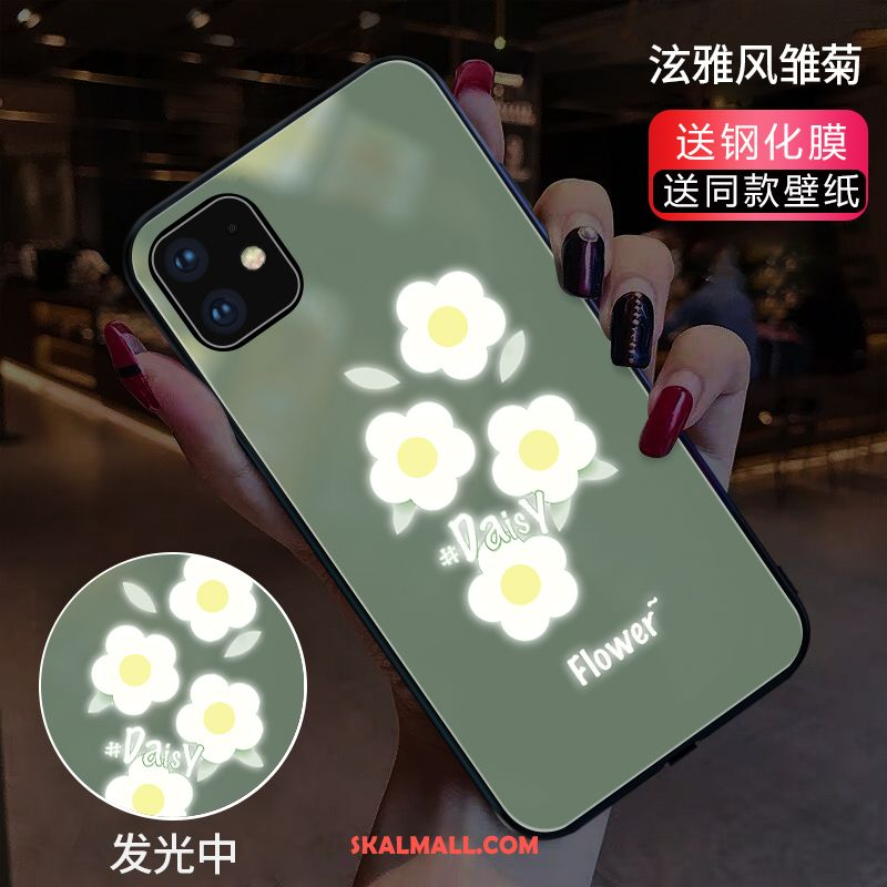 iPhone 11 Skal Mobil Telefon Grön Blommor Cow Net Red Rabatt